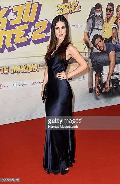 Lena MeyerLandrut attends the 'Fack ju Goehte 2' Munich Premiere at Mathaeser Filmpalast on September 7 2015 in Munich Germany