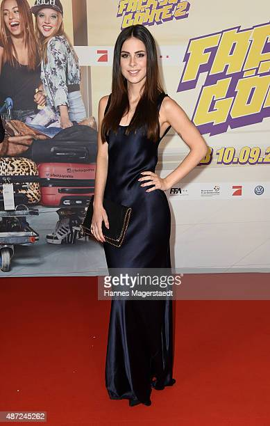 Lena MeyerLandrut attends the 'Fack ju Goehte 2' Munich Premiere at Mathaeser Filmpalast on September 7 2015 in Munich Germany