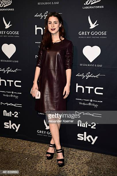 Lena MeyerLandrut attends the Holy Ghost show during the MercedesBenz Fashion Week Berlin Autumn/Winter 2015/16 at Ho Project Space on January 20...