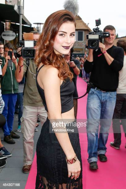 Lena MeyerLandrut attends the Late Night Shopping Designer Outlet Soltau on August 28 2014 in Soltau Germany