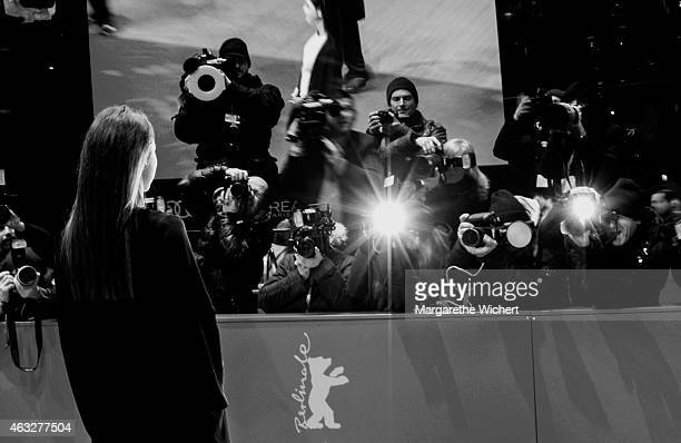 Lena MeyerLandrut attends the 'Sworn Virgin' premiere during the 65th Berlinale International Film Festival at Berlinale Palace on February 12 2015...