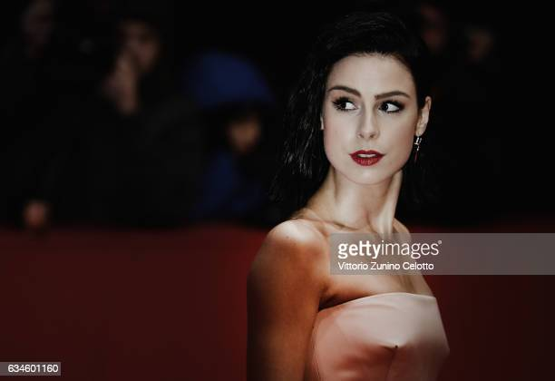 Lena MeyerLandrut attends the 'T2 Trainspotting' premiere during the 67th Berlinale International Film Festival Berlin at Berlinale Palace on...