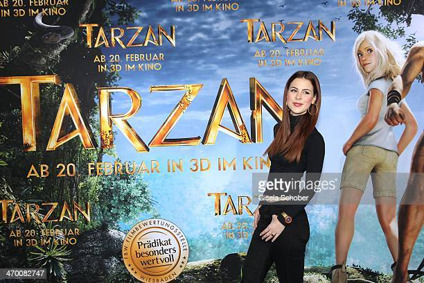 Lena MeyerLandrut attends the 'Tarzan' photocall at Hotel Bayerischer Hof on February 18 2014 in Munich Germany