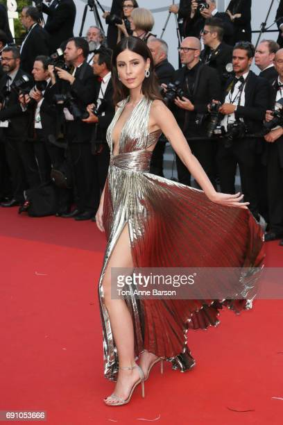 Lena MeyerLandrut attends the 'The Beguiled' screening during the 70th annual Cannes Film Festival at Palais des Festivals on May 24 2017 in Cannes...