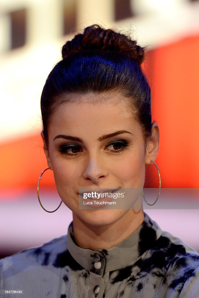 <a gi-track='captionPersonalityLinkClicked' href=/galleries/search?phrase=Lena+Meyer-Landrut+-+German+Singer&family=editorial&specificpeople=6837968 ng-click='$event.stopPropagation()'>Lena Meyer-Landrut</a> attends 'The Voice Kids' Photocall at the Adlershof Studio on March 27, 2013 in Berlin, Germany.