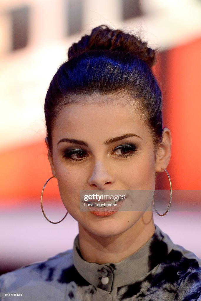 Lena Meyer-Landrut attends 'The Voice Kids' Photocall at the Adlershof Studio on March 27, 2013 in Berlin, Germany.