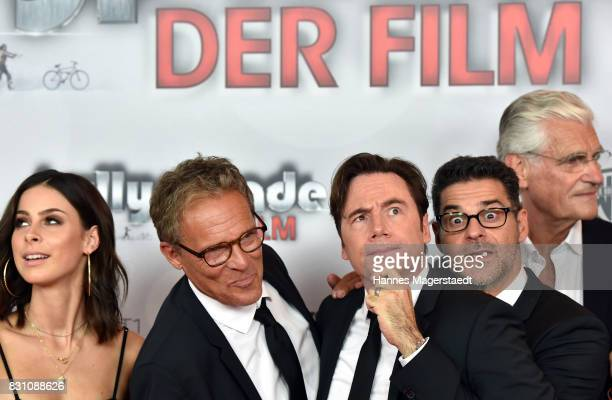 Lena MeyerLandrut Christian Tramitz Michael Bully Herbig Rick Kavanian and Sky du Mont during 'Bullyparade Der Film' premiere at Mathaeser Filmpalast...