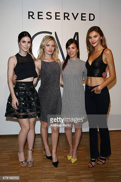 Lena MeyerLandrut Georgia May Jagger Aylin Tezel and Stefanie Giesinger attend the RESERVED collection preview seated dinner at upside east on July 1...