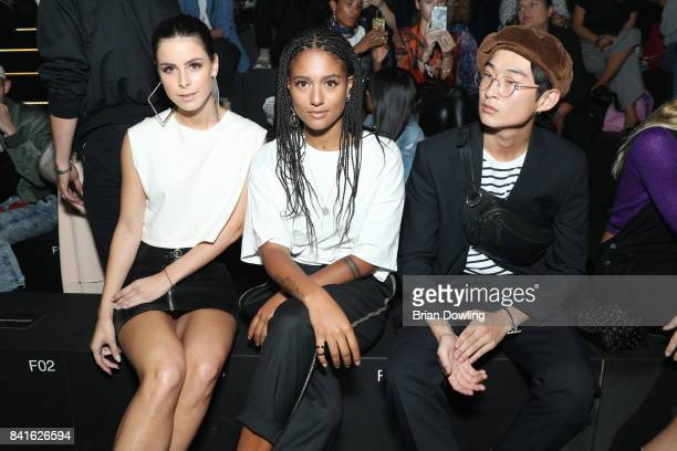 Lena MeyerLandrut Lary Poppins and Sang Woo Kim attend the Zalando A/W 17 women fashion show during the Bread Butter by Zalando at BB Stage arena...