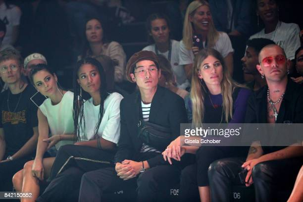 Lena MeyerLandrut Lary Poppins Sang Woo Kim Veronika Heilbrunner and Marc Goehring attend the Zalando A/W 17 women fashion show during the Bread...