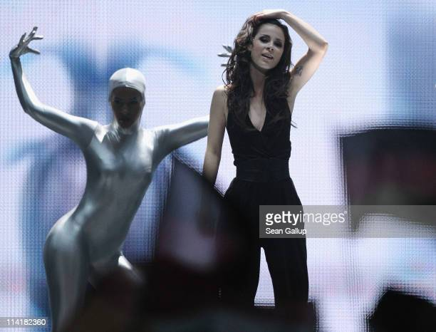 Lena MeyerLandrut of Germany performs in the grand finale of the Eurovision Song Contest 2011 on May 14 2011 in Dusseldorf Germany