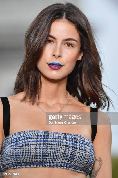 Lena MeyerLandrut walks the runway during the Le Defile L'Oreal Paris show as part of the Paris Fashion Week Womenswear Spring/Summer 2018 on October...