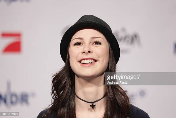 Lena MeyerLandrut winner of the Eurovision Song Contest 2010 attends a press conference on May 31 2010 in Cologne Germany The 19yearold Lena won the...