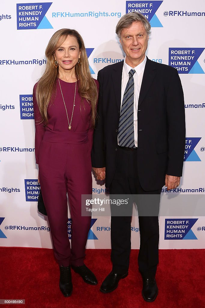 Lena Olin and Lasse Hallstrom attend the Robert F. Kennedy Human Rights 2015 Ripple Of Hope Awards at New York Hilton Midtown on December 8, 2015 in New York City.