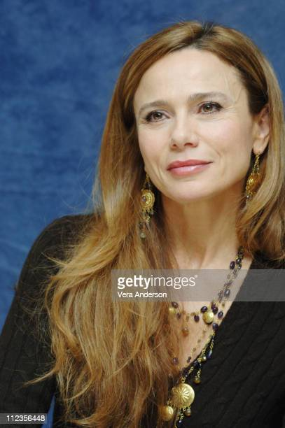 Lena Olin during 'Casanova' Press Conference with Heath Ledger Sienna Miller Lasse Halstrom and Oliver Platt at Waldorf Astoria Hotel in New York...