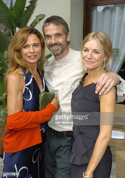Lena Olin Jeremy Irons and Sienna Miller during 2005 Venice Film Festival Celebrity Sightings September 3 2005 at Hotel De Bains in Venice Italy