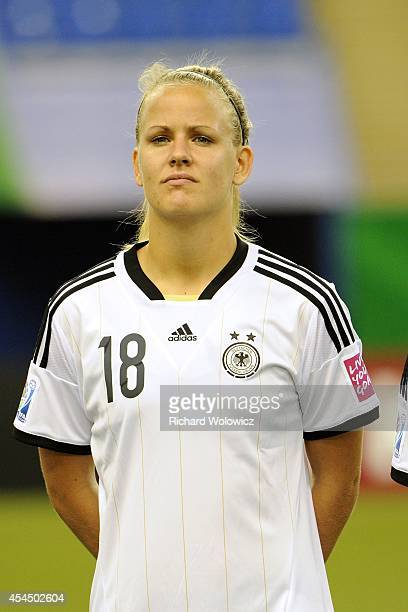 Lena Petermann of Germany during the FIFA Women's U20 Semi Final game against France at Olympic Stadium on August 20 2014 in Montreal Quebec Canada...