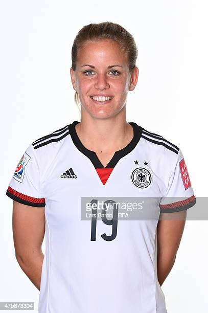 Lena Petermann of Germany poses during the FIFA Women's World Cup 2015 portrait session at Fairmont Chateau Laurier on June 3 2015 in Ottawa Canada