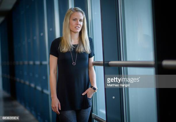 Lena Petermann of Germany poses for a portrait during the DFB Ladies Marketing Day at Commerzbank Arena on April 3 2017 in Frankfurt am Main Germany