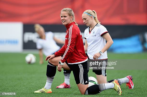 Lena Petermann of Germany practices during a training session at Wesley Cover Park on June 9 2015 in Ottawa Canada