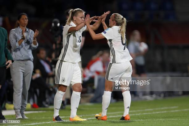 Lena Petermann of Germany women Mandy Islacker of Germany women during the UEFA WEURO 2017 Group B group stage match between Germany and Italy at...