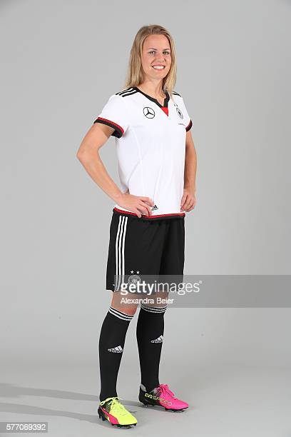 Lena Petermann of the German women's national football team poses during the team presentation on June 21 2016 in Grassau Germany