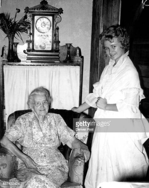 Lena Probst Real And Fancied Mrs T S Emery is shown above with Elaine Atkins of Merino who will portray Mrs Emery as 16yearold Lena Propst in Logan...