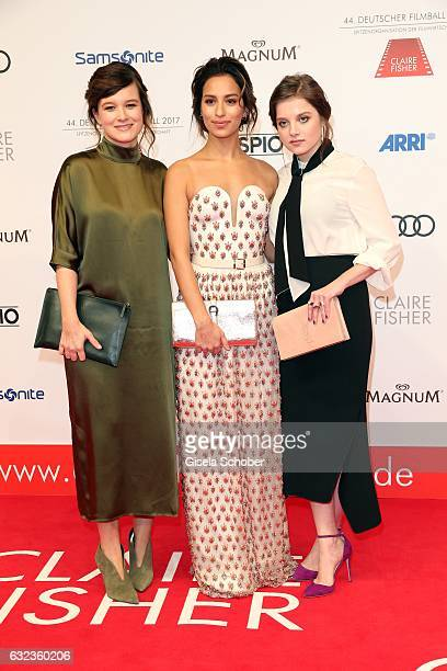 Lena Schoemann Gizem Emre and Jella Haase during the 44th German Film Ball 2017 arrival at Hotel Bayerischer Hof on January 21 2017 in Munich Germany