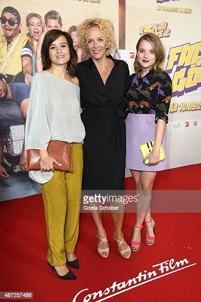 Lena Schoemann Katja Riemann and Jella Haase during the world premiere of 'Fack ju Goehte 2' at Mathaeser Kino on September 7 2015 in Munich Germany