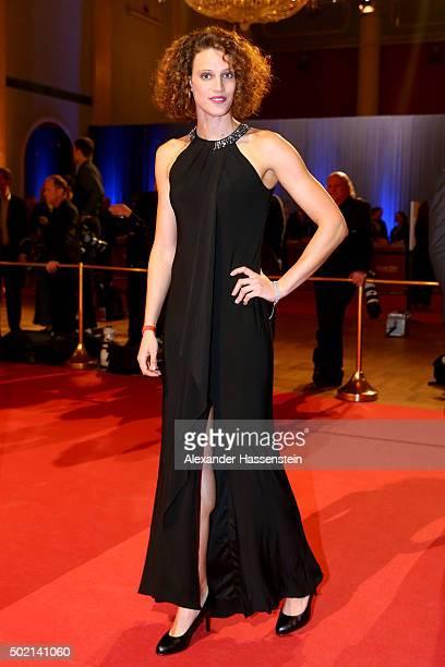 Lena Schoeneborn arrives for the Sportler des Jahres 2015 gala at Kurhaus BadenBaden on December 20 2015 in BadenBaden Germany