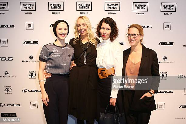 Lena Sophie Anders Christine Kubatta Ilona Marx and Michelle Kronmerks attend the AMDFashionshow Exit17 show during Platform Fashion January 2017 at...