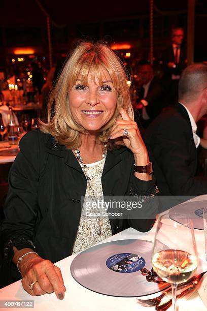 Lena Valaitis during Ralph Siegel's 70th birthday party at Schuhbeck's Teatro on September 30 2015 in Munich Germany