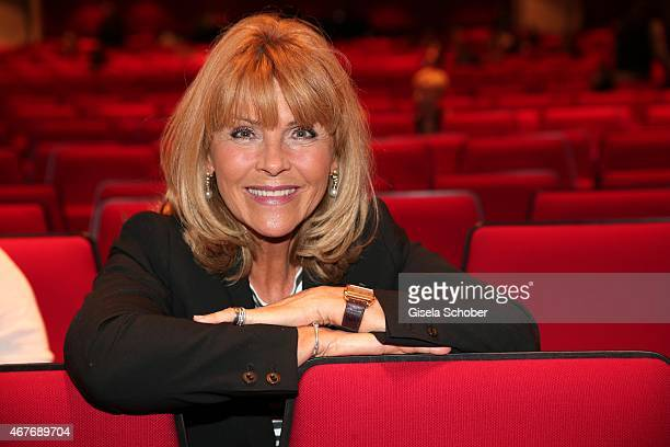 Lena Valaitis during the premiere of the musical 'Elisabeth' at Deutsches Theatre on March 26 2015 in Munich Germany