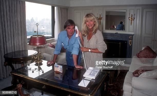 'Lena Valaitis Ehemann Horst Jüssen FamilienUrlaub am im Hotel ''Essex House'' in Manhattan New York USA '