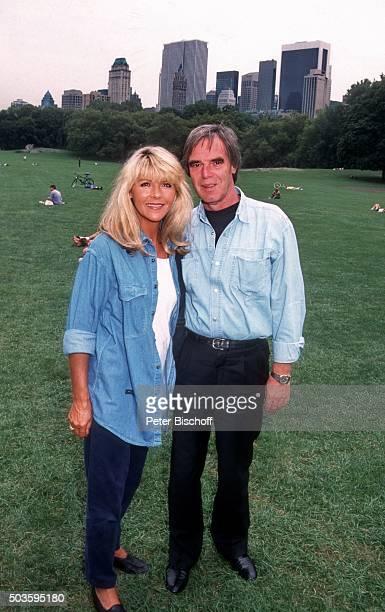 'Lena Valaitis Ehemann Horst Jüssen FamilienUrlaub am im Central Park in Manhattan New York USA '