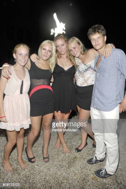 Lena Vergnes Lucy DeKooning Abby McCann Katie Kluger and Ian Comdemale attend Paradiso The 17th Annual Watermill Summer Benefit 2010 at Watermill...