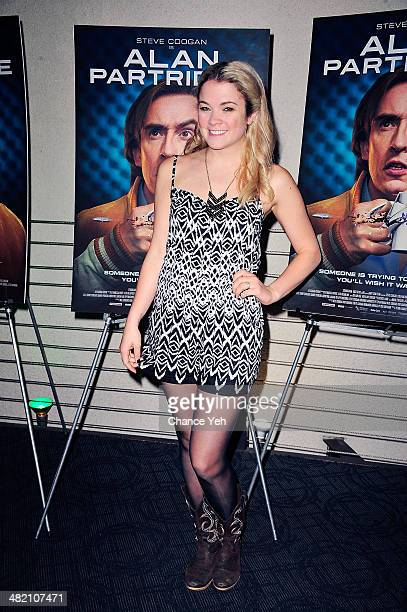 Lenay Dunn attends the 'Alan Partridge' New York screening reception on April 2 2014 in New York City