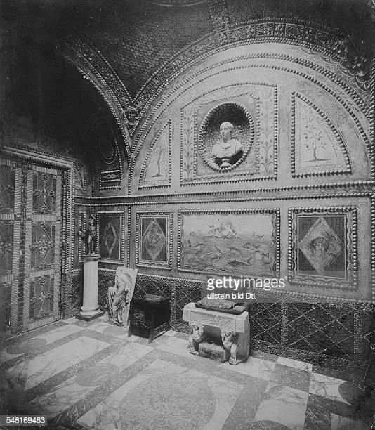 Lenbach Franz von Painter of the Real style D *13121836 since 1882 Ritter von Lenbach inside view of the Lenbachhaus the Grottenzimmer 1904 Vintage...