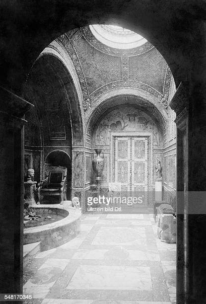 Lenbach Franz von Painter of the Real style D *13121836 since 1882 Ritter von Lenbach inside view of the Lenbachhaus the Grottenzimmer 1904 Published...