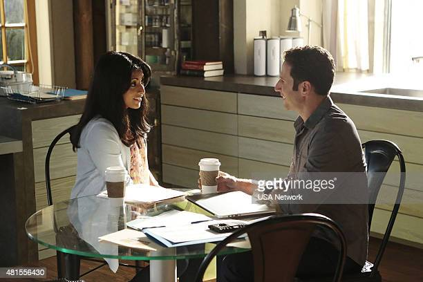 PAINS 'Lending A Shoulder' Episode 708 Pictured Reshma Shetty as Divya Katdare Mark Feuerstein as Dr Hank Lawson