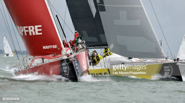 Lendy Cowes Week Sailing Triple Crown Ocean Racers Round The Island Race Mapfre ESP and Team Brunel NL on August 2 2017 in Cowes England
