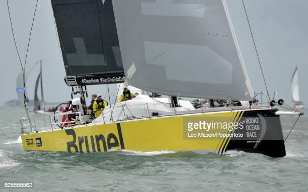 Lendy Cowes Week Sailing Triple Crown Ocean Racers Round The Island Race Team Brunel NL on August 2 2017 in Cowes England