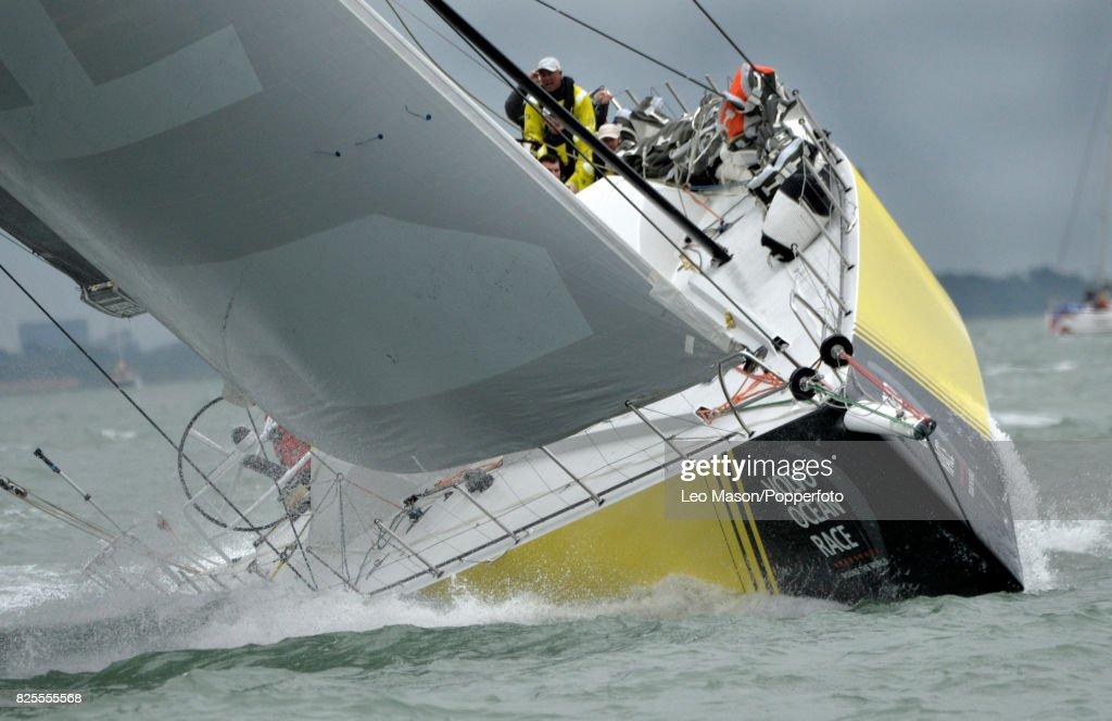 Lendy Cowes Week Sailing Triple Crown Ocean Racers Round The Island Race Team Brunel NL (Bouwe Bekking skipper) on August 2, 2017 in Cowes, England.