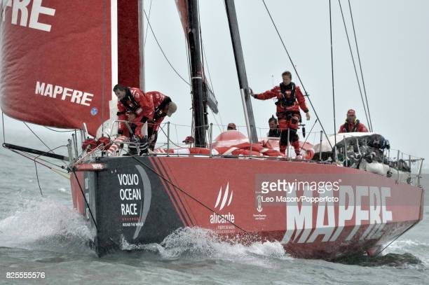 Lendy Cowes Week Sailing Triple Crown Ocean Racers Round The Island Race Mapfre ESP on August 2 2017 in Cowes England