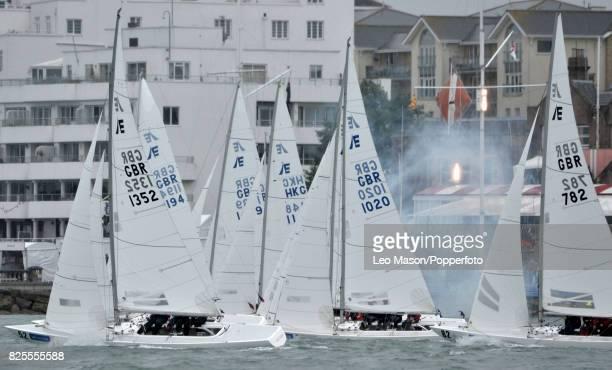Lendy Cowes Week Sailing Triple Crown Ocean Racers Round The Island Race Mapfre ESP Team Brunel NL Team Akzonobel NL Donfeng Race Team CHN Turn the...