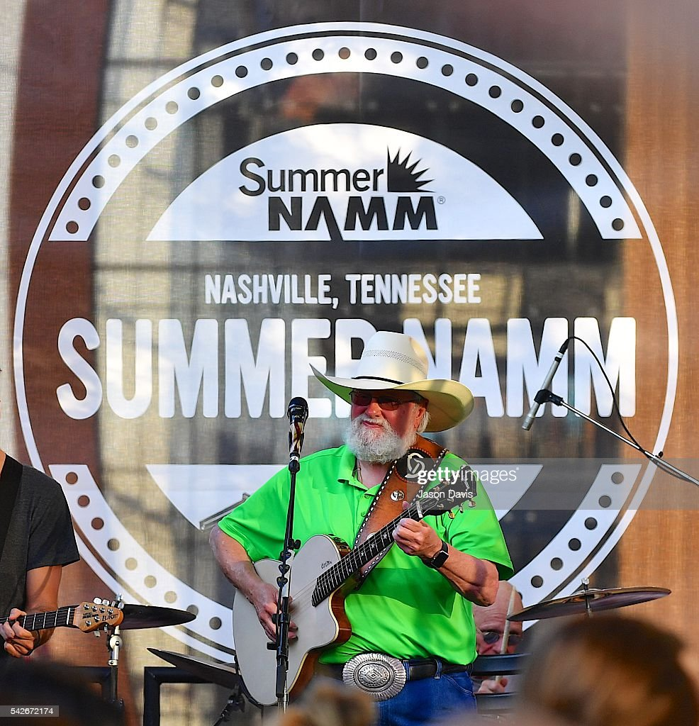 Lengendary Recording Artist Charlie Daniels performs outside at the NAMM Nissan Stage on The Terrace during a private opening party at Music City...