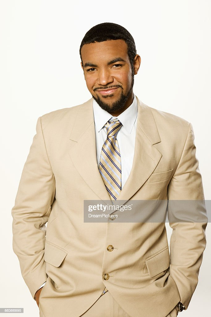 3/4 length portrait of young business man : Stock Photo