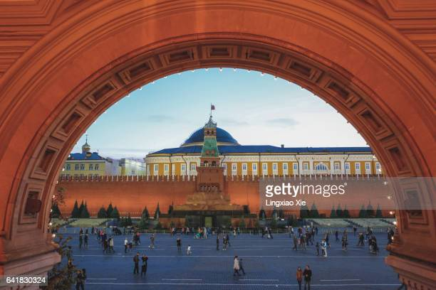 Lenin mausoleum and Kremlin on Red Square, Moscow, Russia