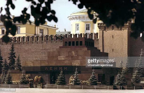 Lenin mausoleum Red Square Moscow c1980 Vladimir Ilyich Lenin Russian Bolshevik leader Communist Soviet USSR'
