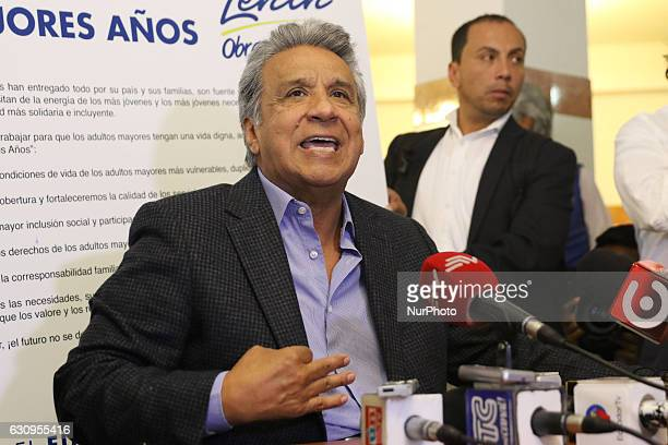 Lenin Moreno The Candidate for the presidency by Alianza País begins his electoral campaign at the hostel 'San Juan de Dios' in Quito Ecuador Tuesday...